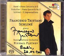 SACD Francesco Tristano signée Ravel Prokofiev schlime piano concerto PLETNEV