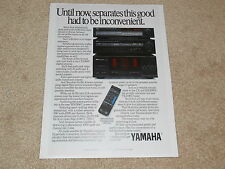 Yamaha Ad, 1988, MX-1000u, CX-1000u, TX-1000u, High End Yamaha Amp, Pre, Tuner