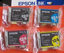 2017 Epson GENUINE 124 Ink T124_T1241-T1244_NX125 NX127 NX420 WF 320 323 325
