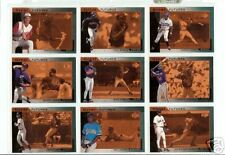 1997 UPPER DECK SP GREAT FUTURES COLLECTION OF NINE 9 BASEBALL CARDS