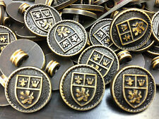 """150 English/British Crest Buttons Lightweight Plastic Faux Leather 18/MM 11/16"""""""
