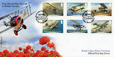 BIOT Br Indian Ocean Terr 2017 FDC WWI WW1 Aircraft 6v Set Cover Aviation Stamps
