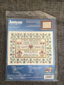 Janlynn Heirloom Wedding Sampler Cross Stitch Kit