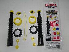 2 Gas Can Replacement Spouts Nozzles Kits Black Fits Gas Water Diesel Kerosene