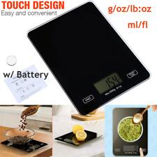 Digital Touch Screen Glass Top Kitchen Postal Scale 5kg 11lbs Food Diet Premium