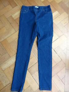 (202MAY) Size 16L *PAPAYA* Cute dark blue jegging jeans chinos ladies/womens