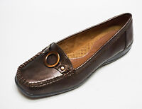 Natural Soul by Naturalizer CADBY Brown Comfort Slip-on Loafers shoes 6  NEW