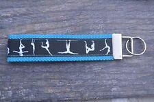 Gymnastics Wristlet Key Fob Key Chain Wrist Strap-Gymnastics Keychain