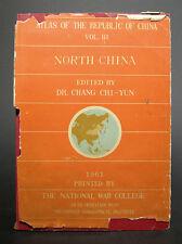 Atlas of the Republic of China, Vol Iii, North China, Dr Chang Chi-Yun, 1961 1st