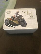 New listing HARLEY-DAVIDSON SIDE CAR TIN TOY 1950S REPRODUCTION WIND-UP STYLE  XONEX TESTED