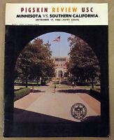 1965 USC vs MINNESOTA Football Program {Mike Garrett Heisman Trophy}