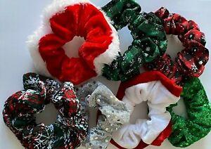 Christmas Scrunchies Hair Rope Elastic Hair Bands Ponytail Holder