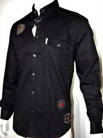 Ben Sherman men's patch long sleeve shirts size large black