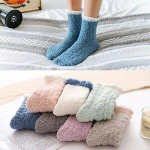Winter Ladies Heart Warm Bed Cosy Lounge Soft Floor Fluffy Socks Decor 4/8 Pairs