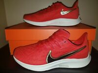 """NEW WMNS NIKE AIR ZOOM PEGASUS """"GLAM DUNK"""" SZ 7-8.5 RED/GOLD CT1150 600 ATHLETIC"""
