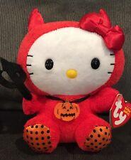 "Ty Beanie Babies Hello Kitty Red Devil 6"" Halloween NWT"