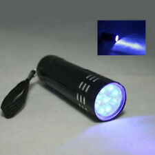 Mini Aluminum Blacklight New 9 LED Torch Light Lamp UV Ultra Violet Flashlight