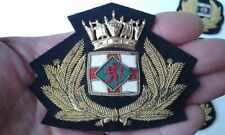 A Nice Original BP Gold EMBROIDERED CAP BADGE