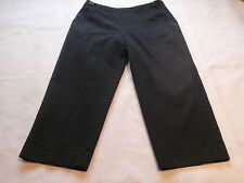 Talbots womens stretch capris crop pants SIZE 8 black flat front