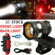 Rechargeable 15000LM XM-L T6 LED MTB Bicycle Lights Bike Front+Rear Headlight AU