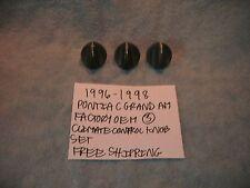 1996-1998 PONTIAC GRAND AM FACTORY GM 3 CLIMATE CONTROL KNOB SET FREE SHIPPING!