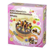 Eddy Jouets Schokoladenkuchen 49 Pièces pour Set de Légumes pour L'Épicerie,