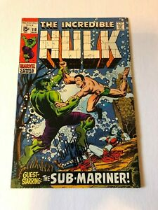 INCREDIBLE HULK #118 BATTLES SUB-MARINER signed by LOU FERRIGNO 1969