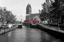 PHOTO  NETHERLANDS 1986 OUDEWATER BRUG GESLOTEN OUDEWATE