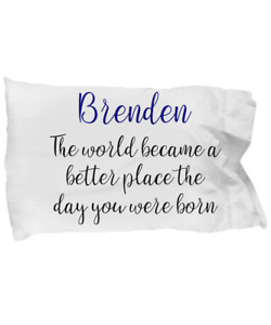 Personalized Pillow Case Custom Children Kids Teen Gift Relationship Boyfriend