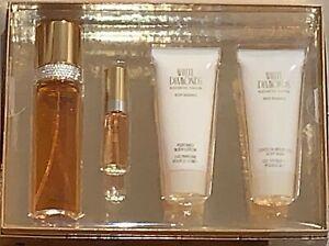 White Diamonds / Elizabeth Taylor White Diamonds Perfume 4 PC Gift Set