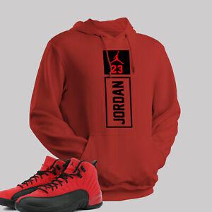 Red and Black Jordan 23 Unisex Hoodie to match Air Jordan 12 Reverse Flu Game 3