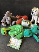 Set of 5 Official Matt Disney's Tarzan soft plush beanie toys  with tags
