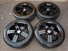 "*GENUINE AUDI TT 17"" ALLOY WHEELS FITS SEAT VW SKODA 5 SPOKE BLACK GLOSS 5x112"
