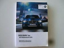 BMW Betriebsanleitung  Deutschland  1er F20 F21 iDrive  Modellj. 13  01402917097