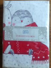 Mothercare Christmas / Santa Duvet Cover And Pillowcase For A Cot Bed ....Bnip