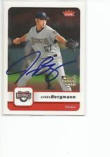JASON BERGMANN Autographed Signed 2006 Fleer card Washington Nationals COA