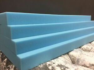 Upholstery Cushion BLUE FOAM HIGH DENSITY Bespoke Cutting Any Size Any Thickness