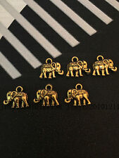 PJ300 20pc Tibetan Gold Bead Charms Elephant Animal Jewelry Findings Wholesale