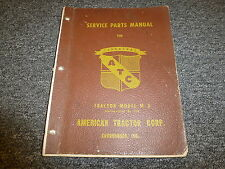 American Tractor ATC TerraTrac M3 Crawler Tractor Dozer Parts Catalog Manual
