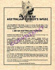 Rules In An Australian Terrier's House