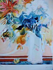 expressionist Paul Ambille Bouquet HAND SIGNED NUMBERED ORIGINAL LITHOGRAPH