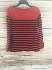 Gap Designed & Crafted Wool Blend Long Sleeve Blue/red Striped Sweater Size XS