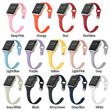 For Apple Watch SLIM Silicone Band iWatch Wristband Strap fit 40/44mm 38/42mm