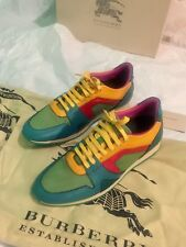 [BRAND NEW WITH BOX] Burberry Prorsum Color Block Calf Leather Sneakers Men US 9