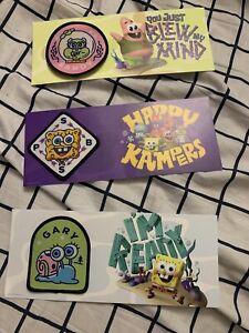 Nickelodeon SDCC 2020 Kamp Koral Spongebob Squarepants Lot Of 3 Patches!