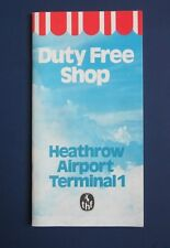 Vintage Heathrow Airport Terminal 1 Duty Free Shop Guide 1980s VG