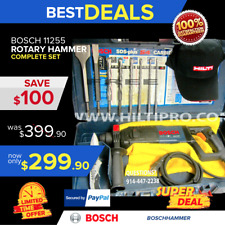 "BOSCH 11255VSR 1"" SDS-PLUS ROTARY HAMMER, PREOWNED , HILTI TE 2, FAST SHIPPING"