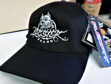 EXTREMELY RARE BRAND NEW LOCSTERS Brand PITBULL Black FLEX FIT HAT Size L-XL