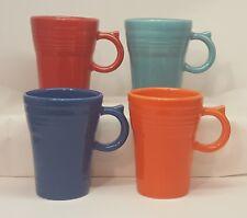 Fiestaware mixed colors Latte Mug Lot of 4 Fiesta Tall 18 ounce Coffee Mugs
