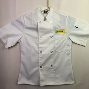 New Chef Jacket Short Sleeve White Color Double Breasted Chef Uniform Size Small